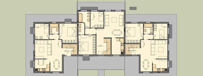 Progetti villette casa in legno a fano pu with progetti for Progetti ville bifamiliari moderne
